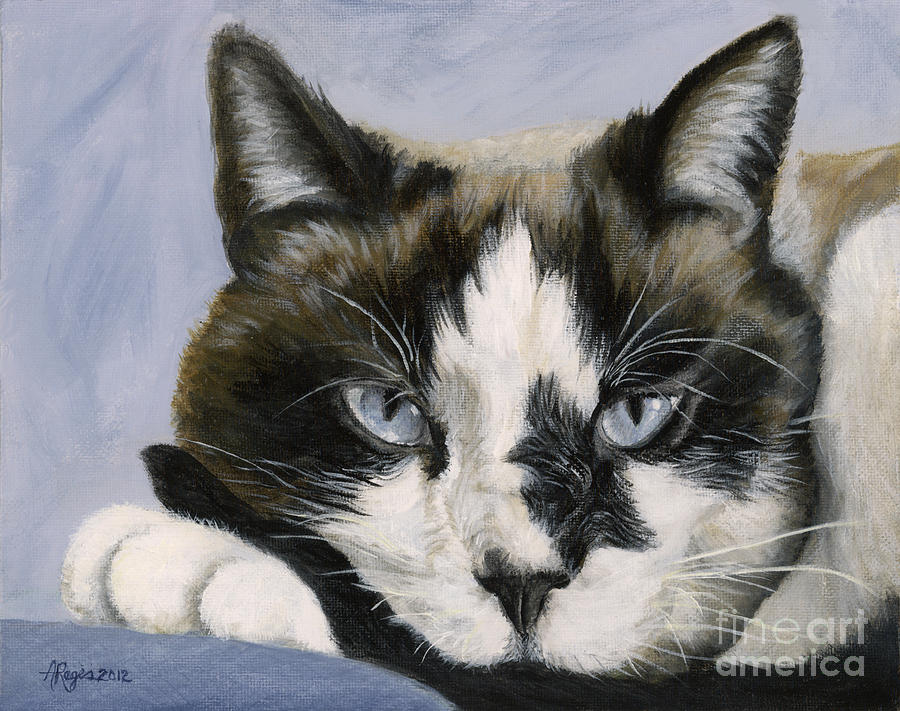 Calico Cat with Attitude by Amy Reges