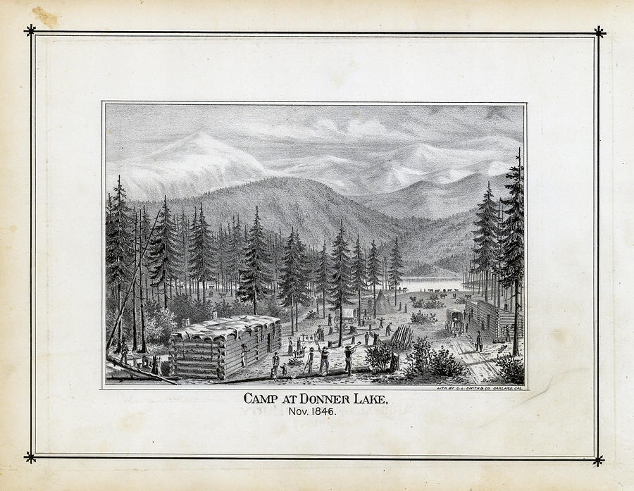 Donner Party Map on