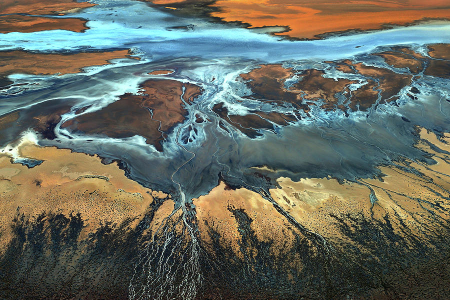 Usa Photograph - California Aerial - The Desert From Above by Tanja Ghirardini