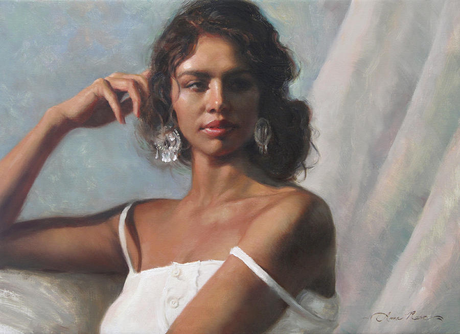 Beautiful Woman Painting - California Beauty by Anna Rose Bain