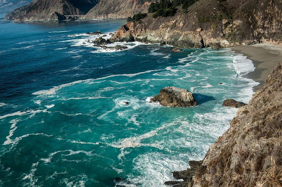 Big Sur Photograph - California Coast - Big Creek Bridge by George Buxbaum