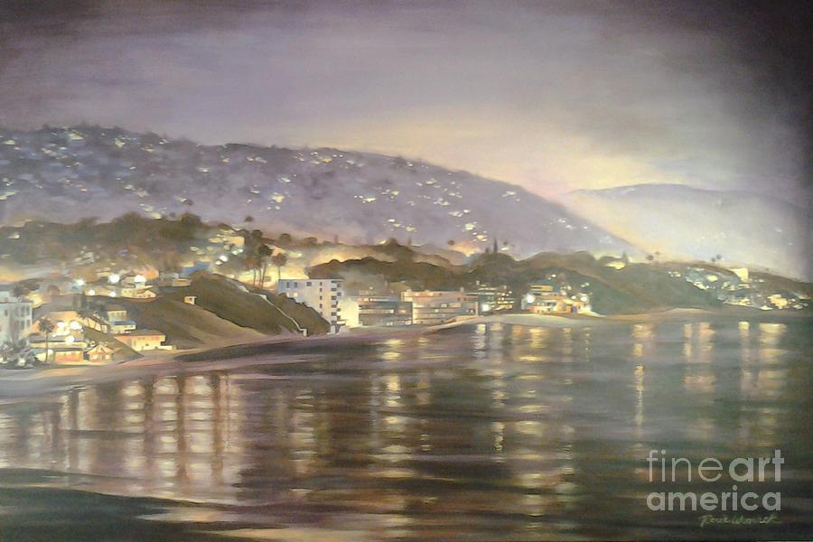 California Coastal Painting by Renee Womack