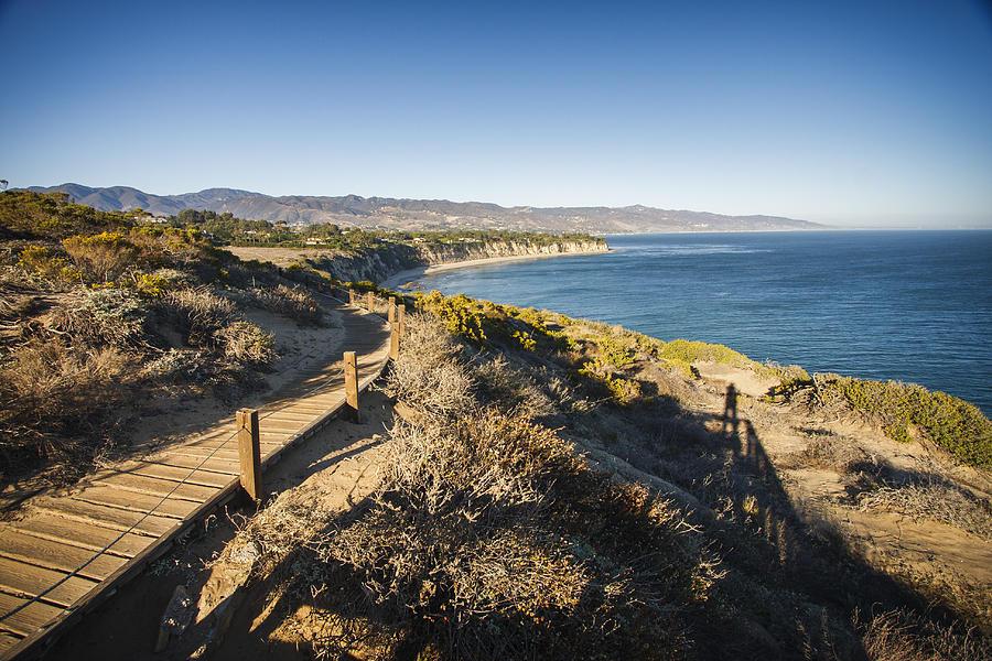Beach Photograph - California Coastline From Point Dume by Adam Romanowicz