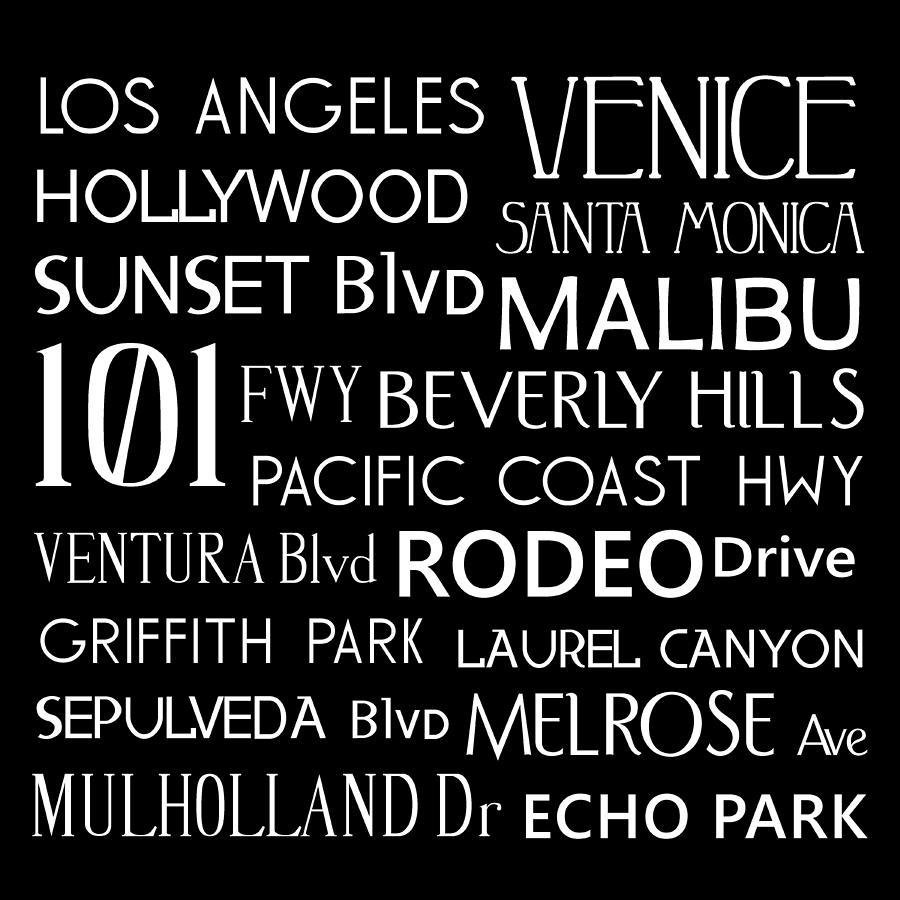 California Digital Art - California Destinations by Jaime Friedman