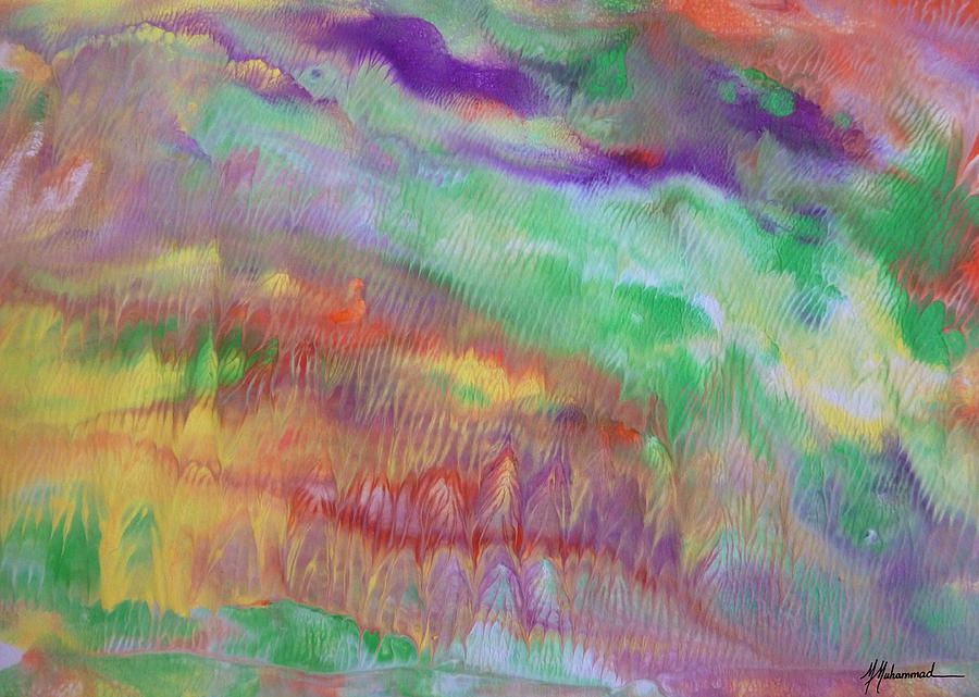 Abstract Painting - California Dreamin by Marcella Muhammad