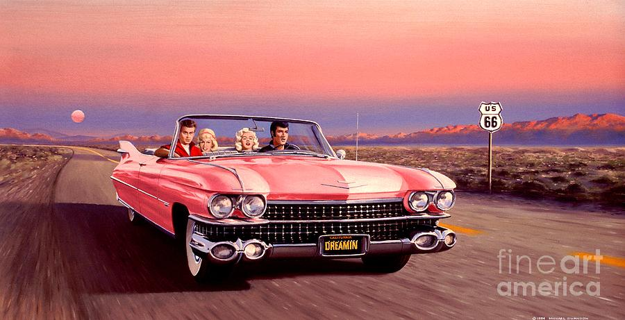 Cadillac Painting - California Dreamin by Michael Swanson