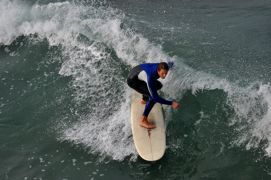 Surfer Photograph - California Dreamin Surfer by Diane Lent