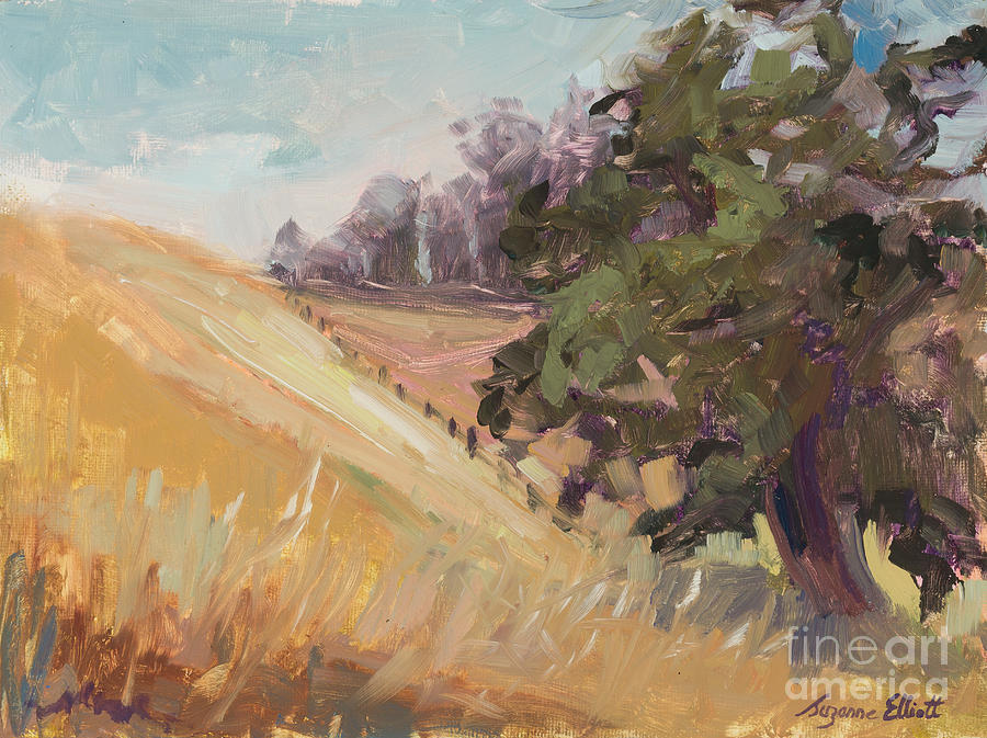 Hills Painting - California Gold by Suzanne Elliott