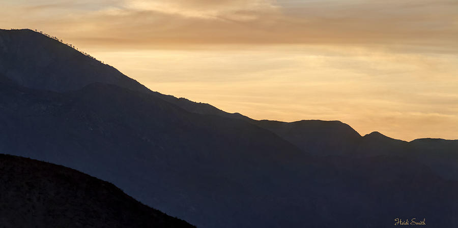 Landscape Photograph - California Golden Desert Sunset by Heidi Smith
