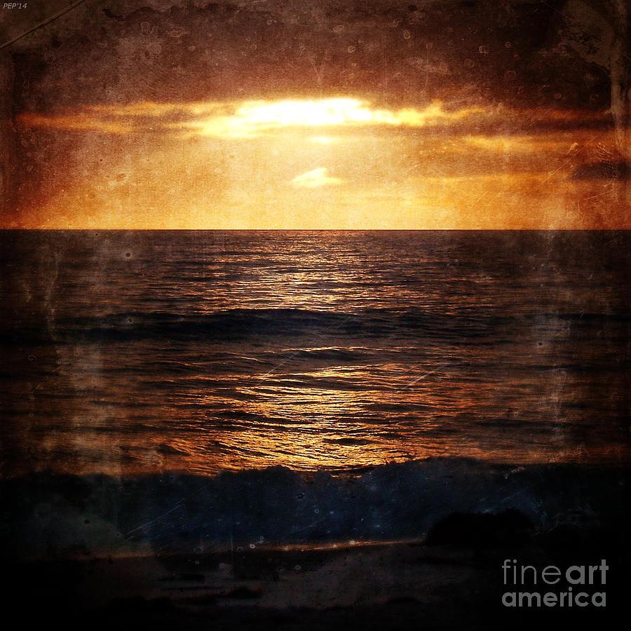 California Photograph - California Grunge Sunset by Phil Perkins