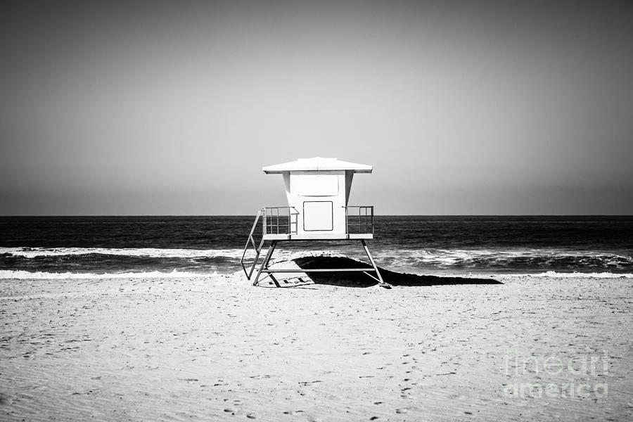 America photograph california lifeguard tower black and white picture by paul velgos