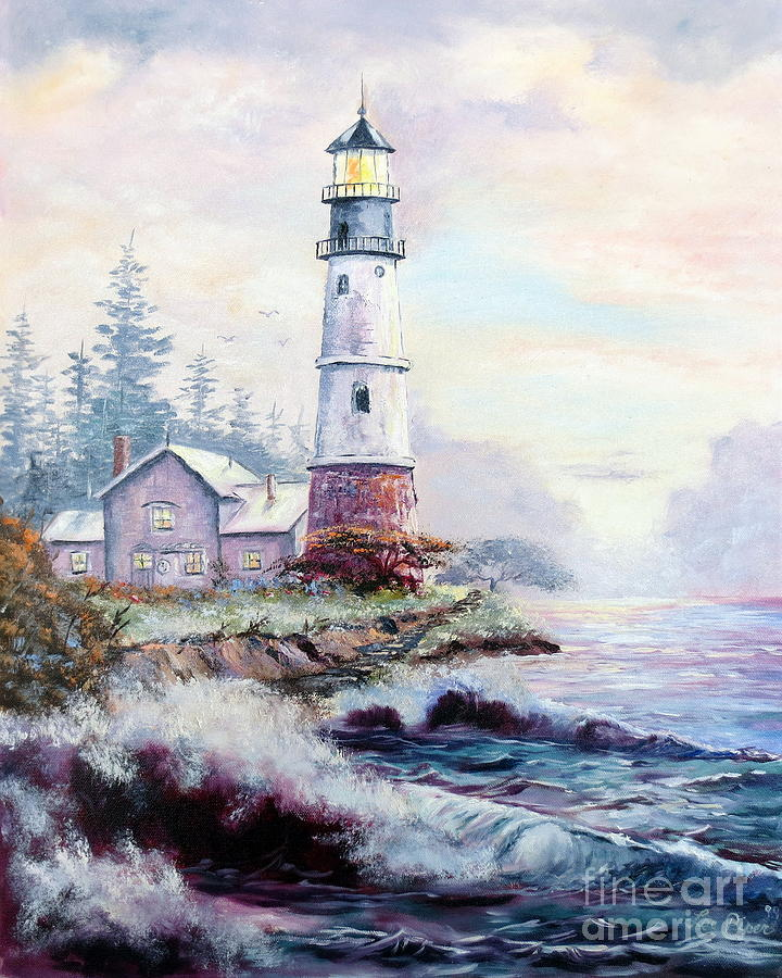 Lighthouse Painting - California Lighthouse by Lee Piper