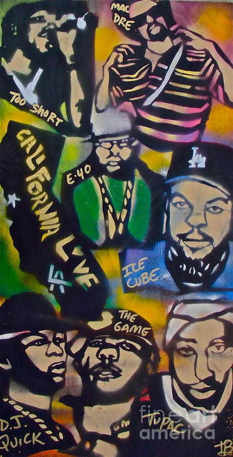Hip Hop Painting - California Love by Tony B Conscious