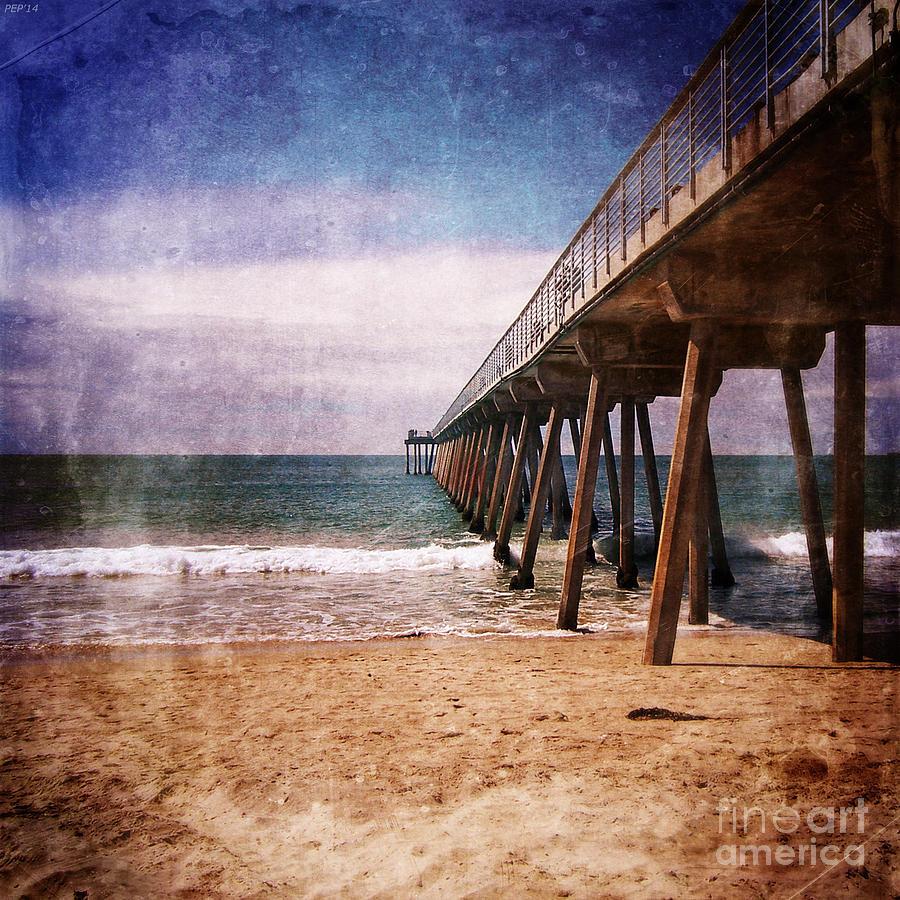 California Photograph - California Pacific Ocean Pier by Phil Perkins