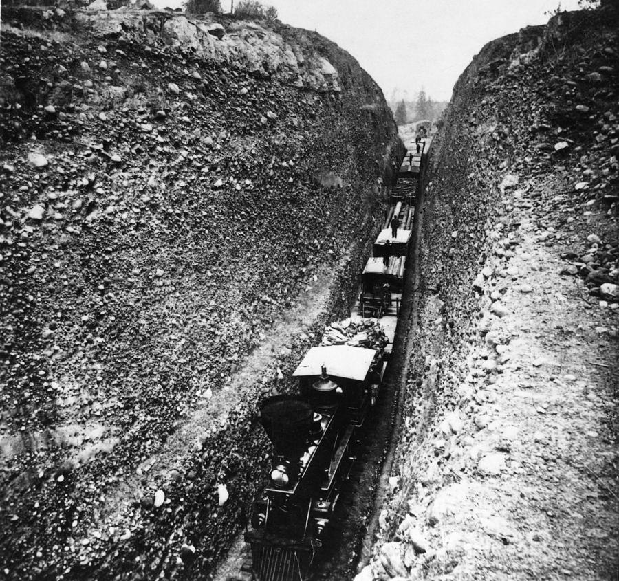 1868 Photograph - California Railroad, C1868 by Granger
