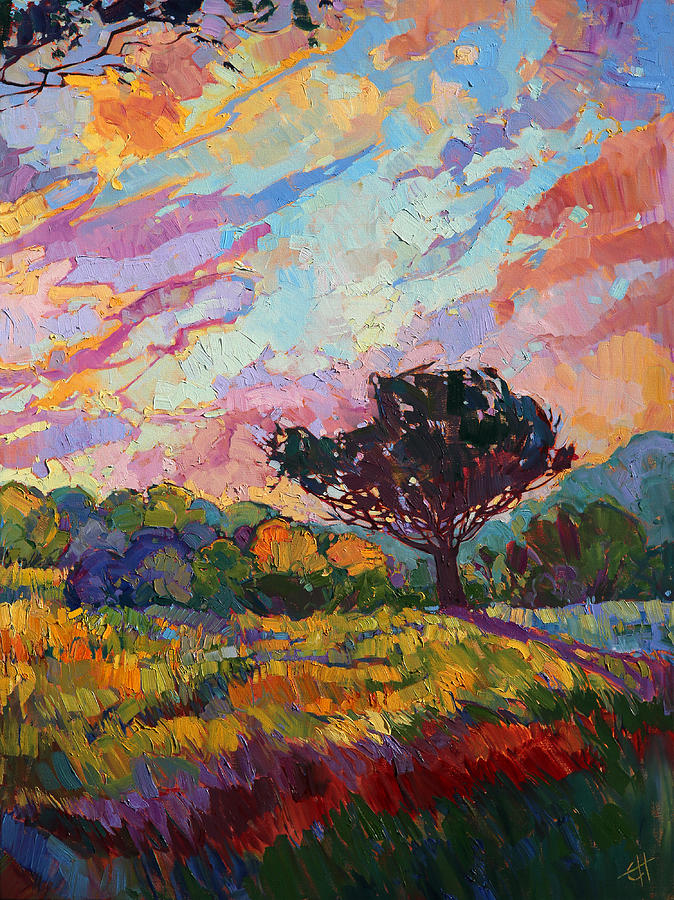 California Sky Quadtych Lower Right Panel Painting By