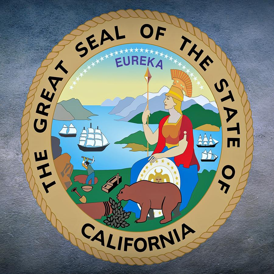 California State Seal Digital Art by Movie Poster Prints