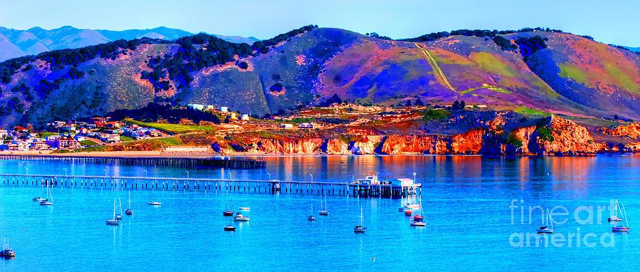 California Sunset Colors - Avila Pier Photograph