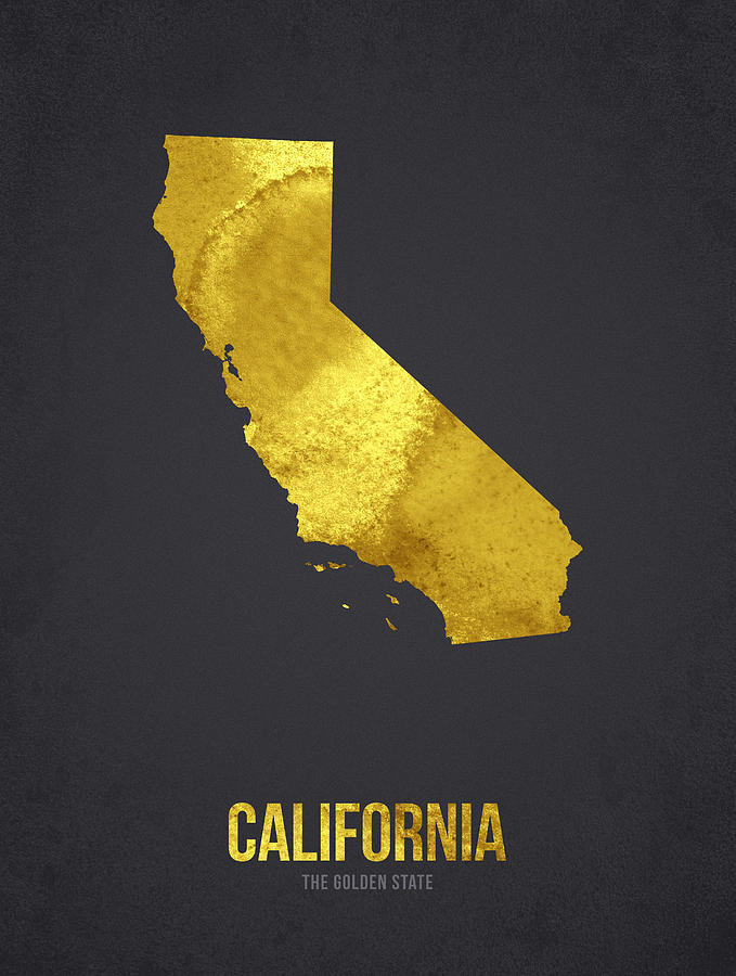 California Digital Art - California The Golden State by Aged Pixel