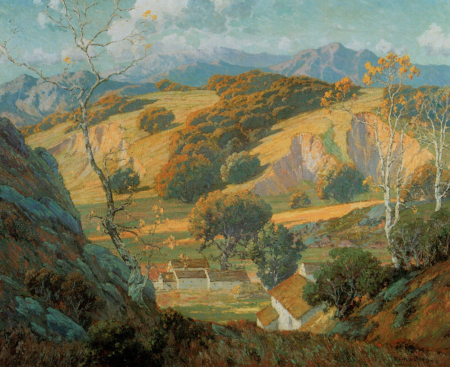 California Valley Farm Painting By Maurice Braun