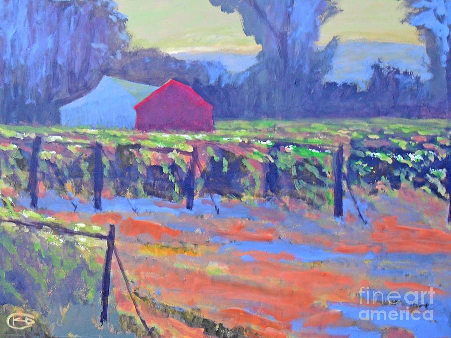 Vineyard Painting - California Vineyard by Kip Decker