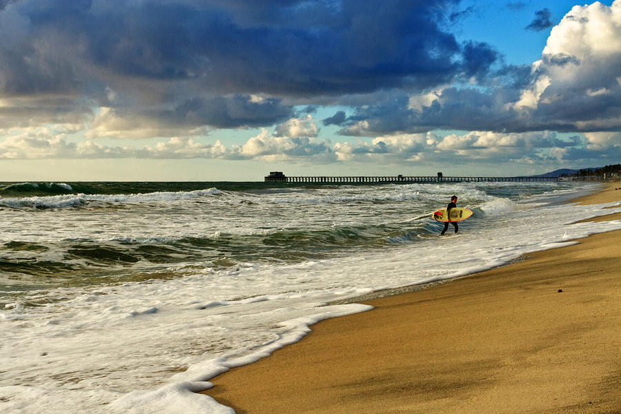 Oceanside Photograph - Californias Stormy Surf  by Donna Pagakis