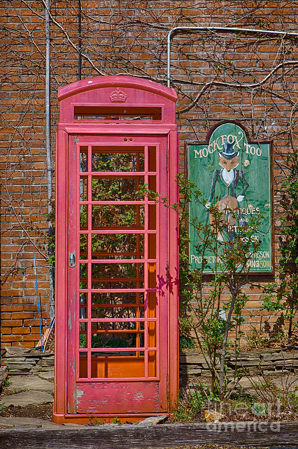 Haverford Photograph - Call Me - Abandoned Phone Booth by Kay Pickens