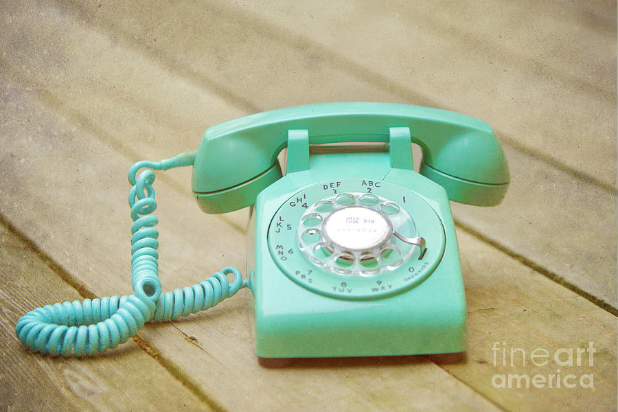 Rotary Phone Photograph - Call Me by Kay Pickens