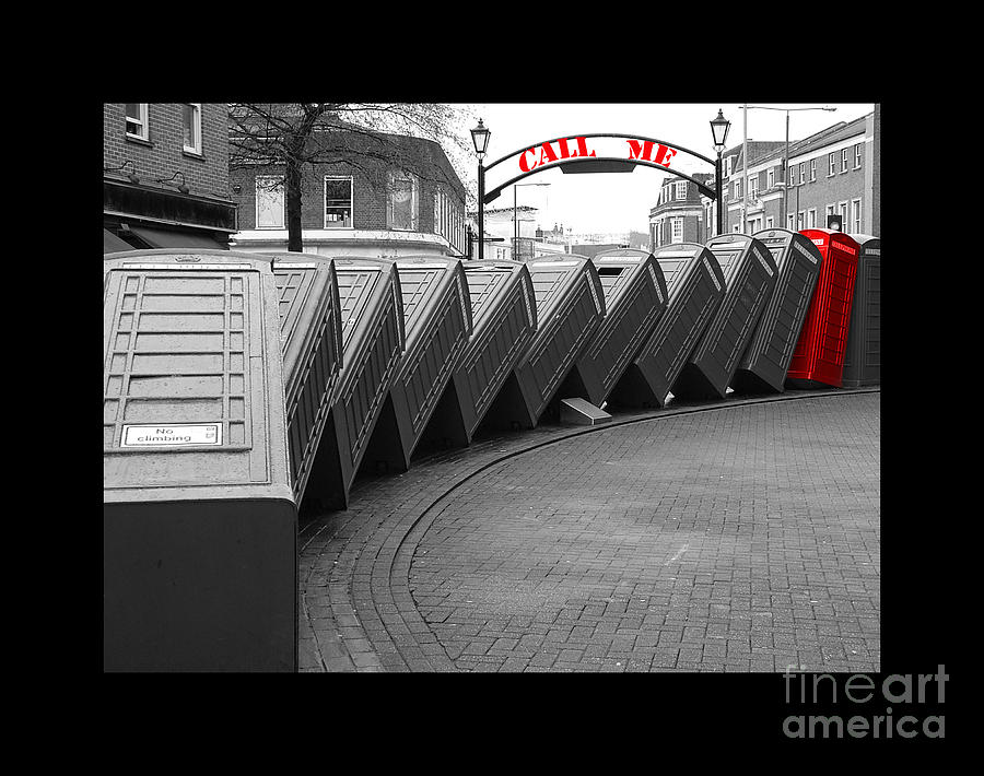 Phone Boxes Photograph - Call Me by Michelle Orai