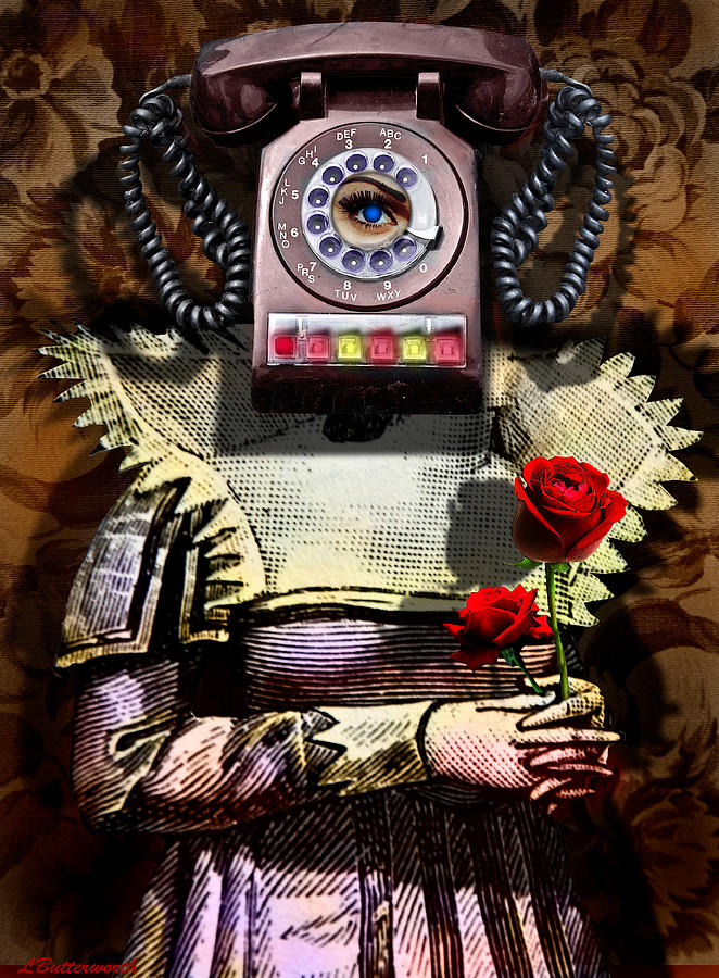Steampunk Digital Art - Call Me Sometime by Larry Butterworth