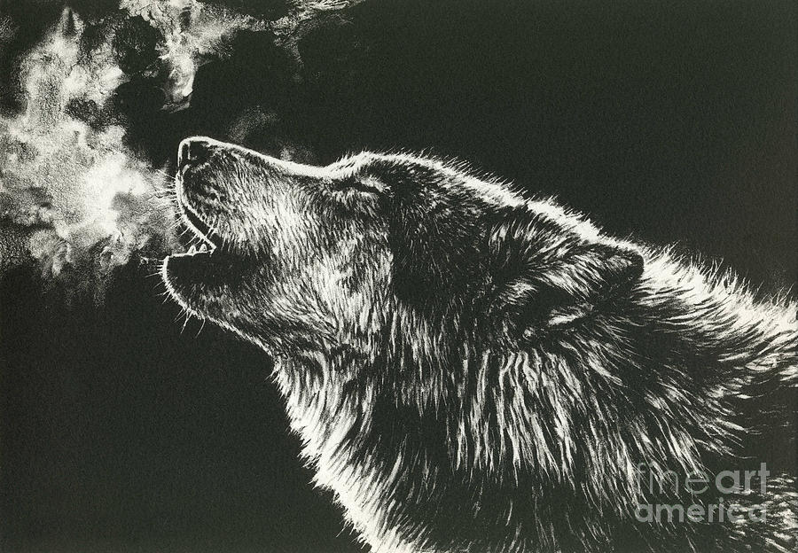 Wolf Painting - Call Of The Wild by Beth Hoselton