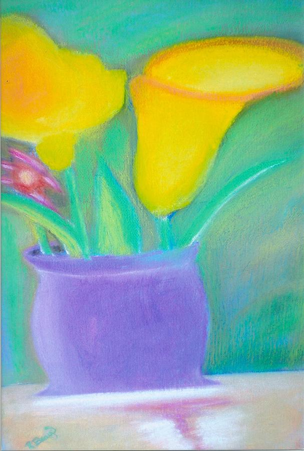 Vase Of Calla Lilies Mixed Media - Calla Lilies Supreme by Robert Bray
