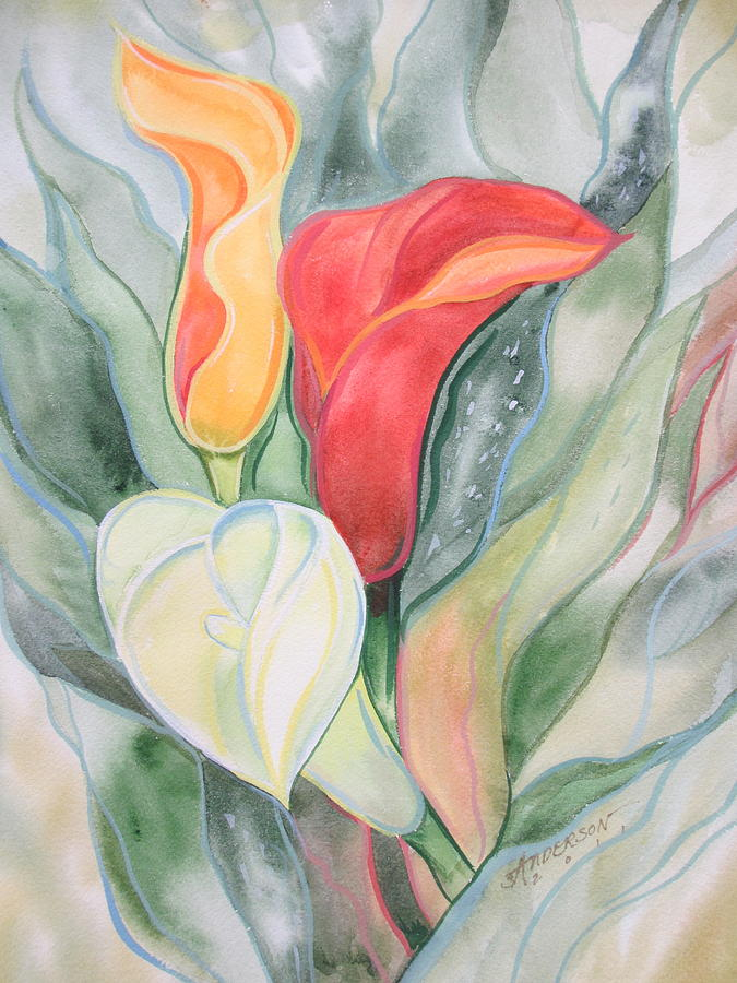 Flowers Painting - Calla Lily by Sherri Anderson