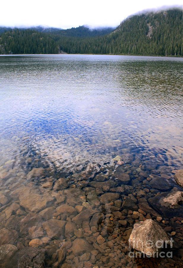Lake Photograph - Callaghan Lake Stones by Amanda Holmes Tzafrir