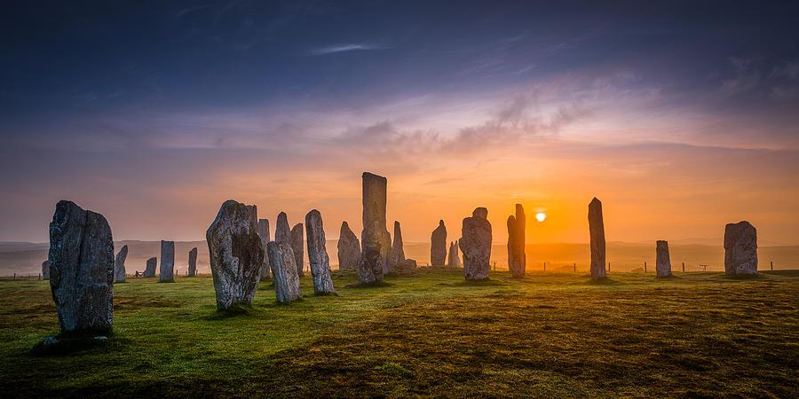 Callanish Photograph - Callanish Dawn by Peter OReilly