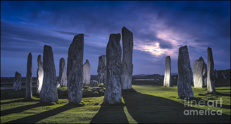 Landscape Photograph - Callanish Stones Light Painting No2 by George Hodlin