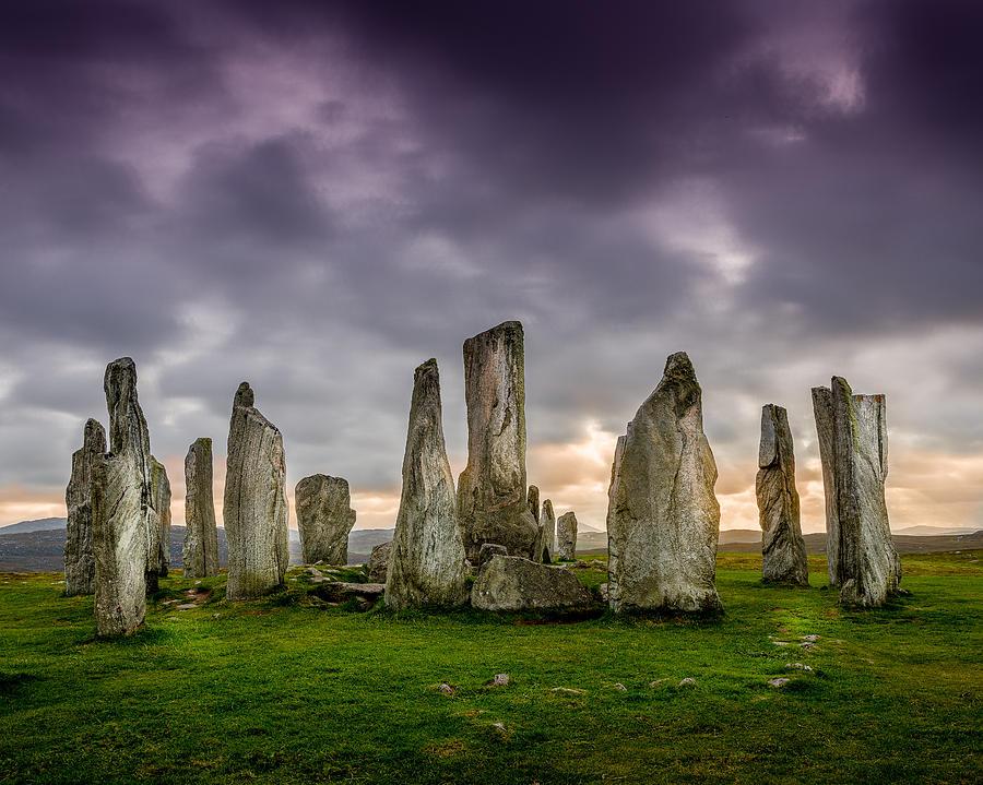 Callanish Photograph - Callanish Stones by Peter OReilly