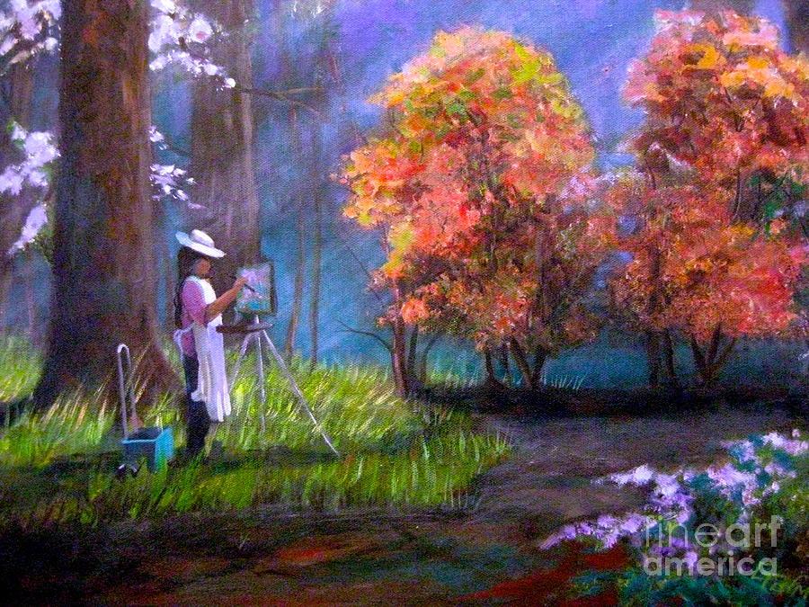 Callaway Gardens Painting - Callaway Garden Artist by Gretchen Allen