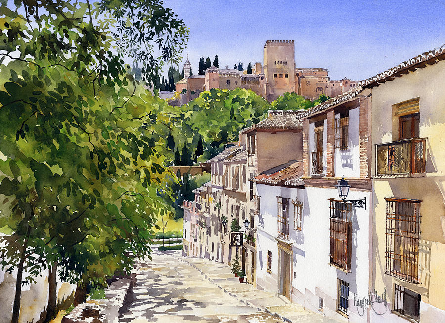 Spain Painting - Calle Victoria Granada by Margaret Merry