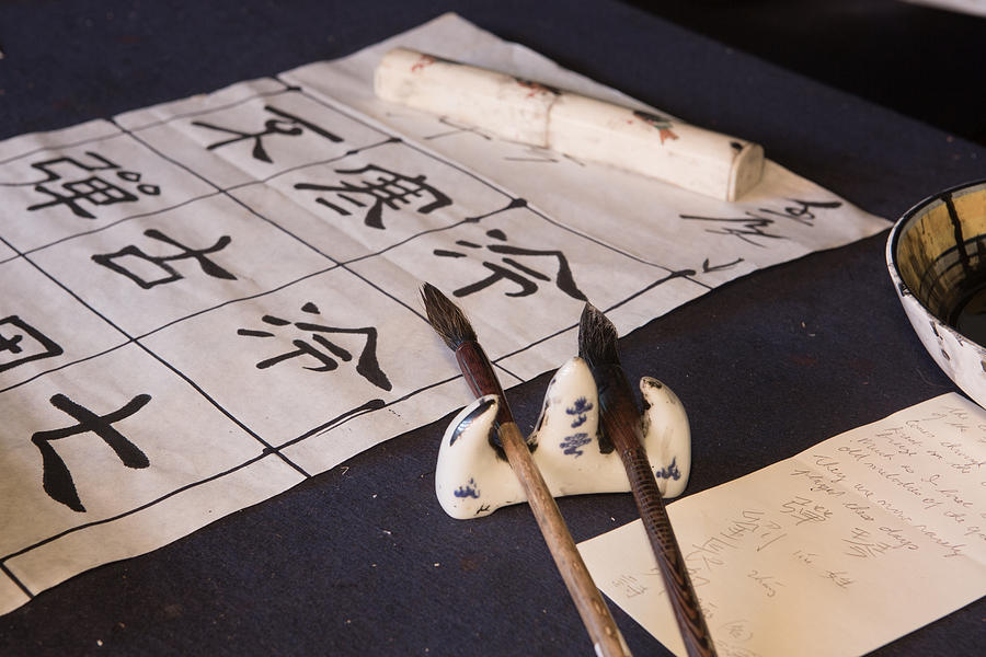 Calligrapher Photograph - Calligraphers Desk by Gordon  Grimwade