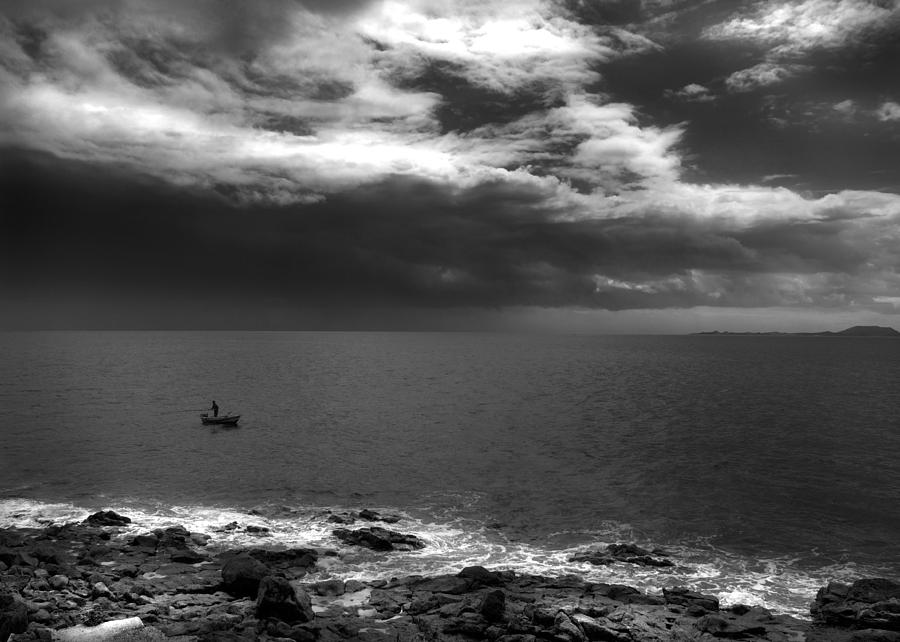 Seascape Photograph - Calm Before The Storm by Ed Pettitt