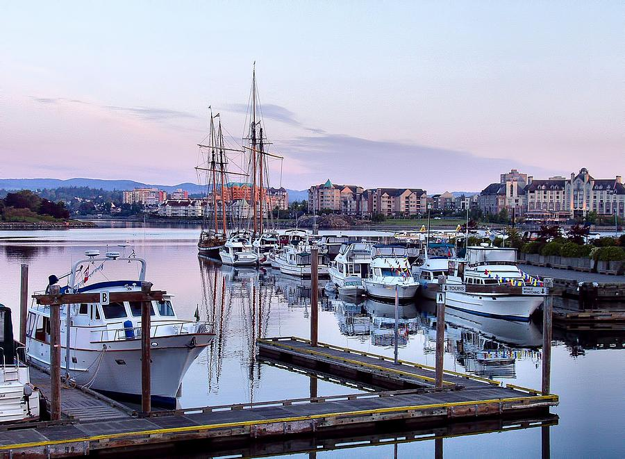 Harbour Photograph - Calm In The Harbour by Jenny Hudson