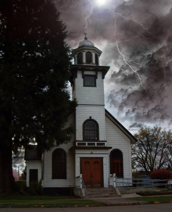 Church Photograph - Calm In The Storm by John Winner