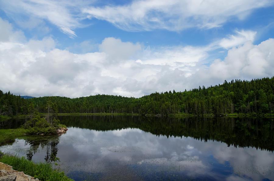 Calm Lake Photograph - Calm Lake - Turbulent Sky by Georgia Mizuleva