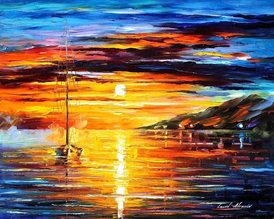 Calm Sailing Painting By Leonid Afremov