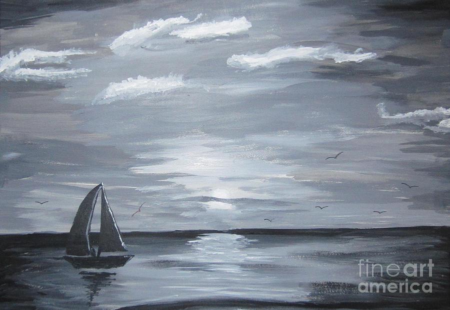 Sea Painting - Calm Seas by Haleema Nuredeen