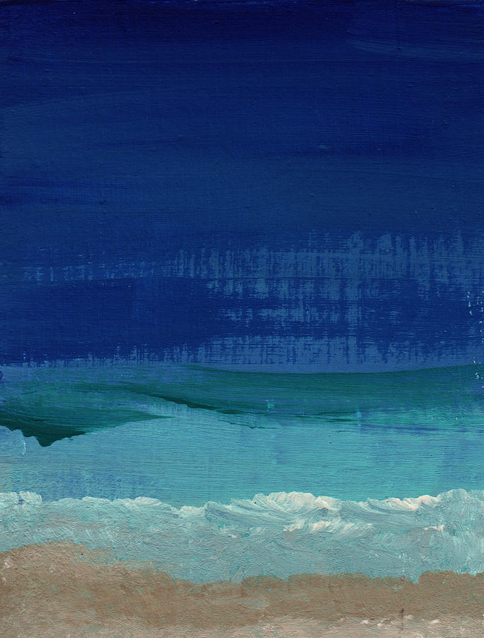 Sea Painting - Calm Waters- Abstract Landscape Painting by Linda Woods