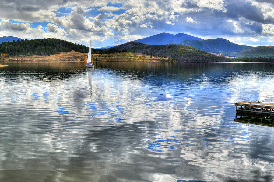 Lake Dillon Digital Art - Calm Waters by Sergio Aguayo