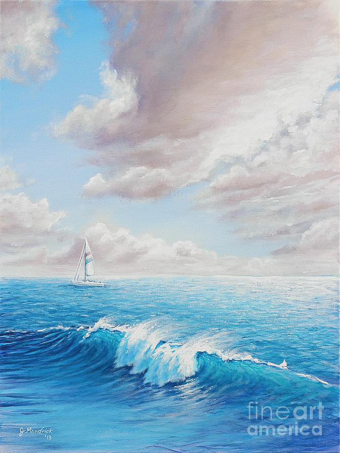 Seascape Painting - Calming Ocean by Joe Mandrick