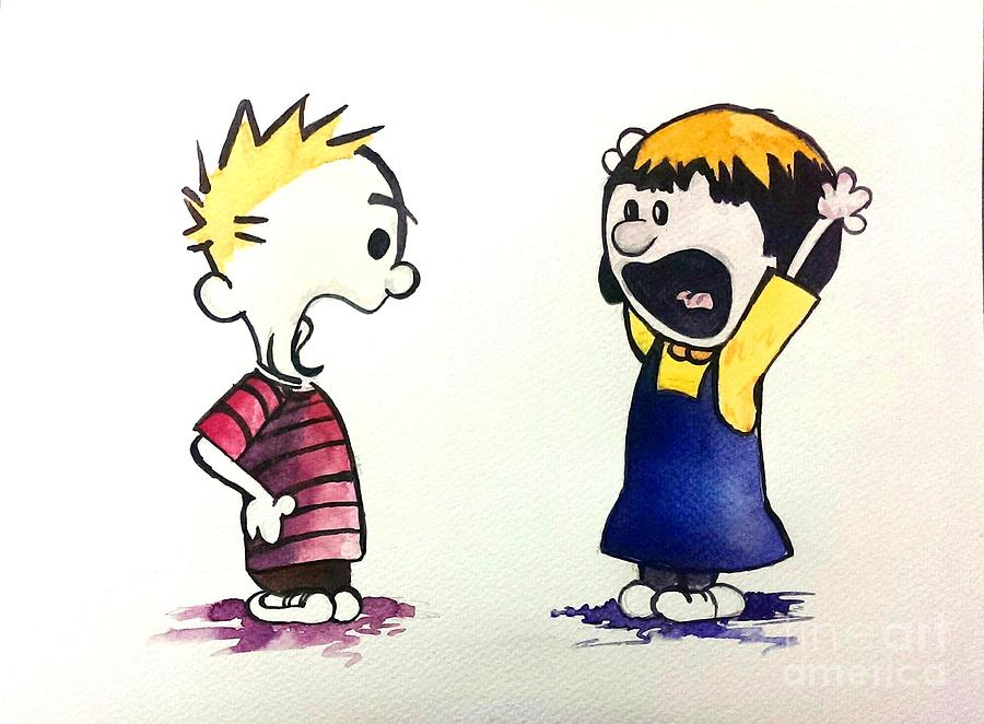 Calvin And Suzie Painting